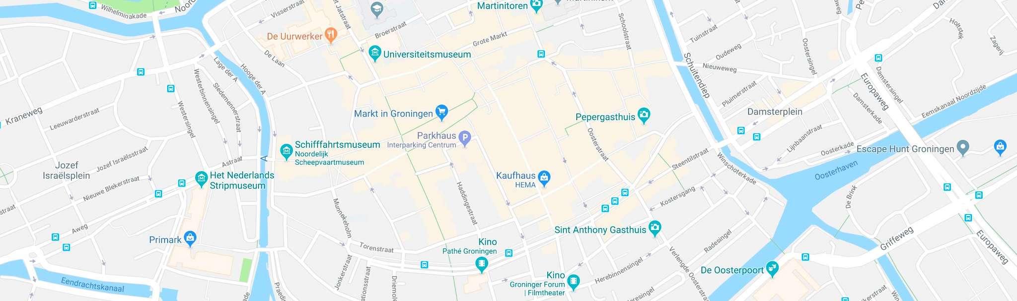 Groningen - Karte der Innenstadt