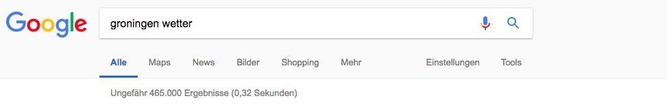 Bildschirmfoto einer Google-Suche