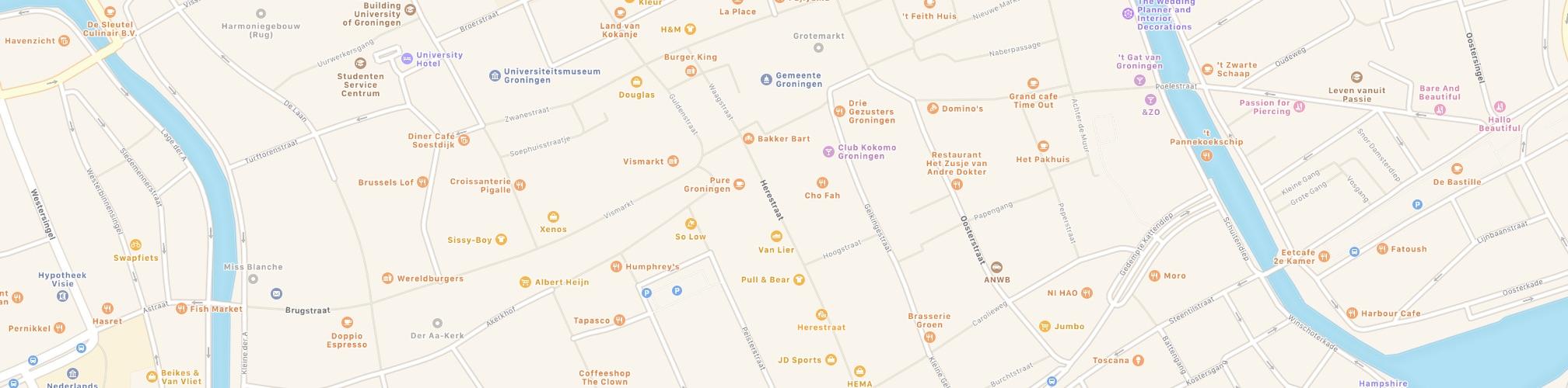 Groningen, Ausschnitt aus einer Karte (Beitragsbild)