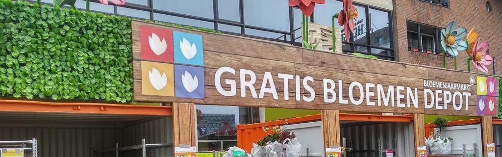 Groningen - Blumenmarkt am Karfreitag. In Deutschland ein Feiertag, in den Niederlanden nicht.