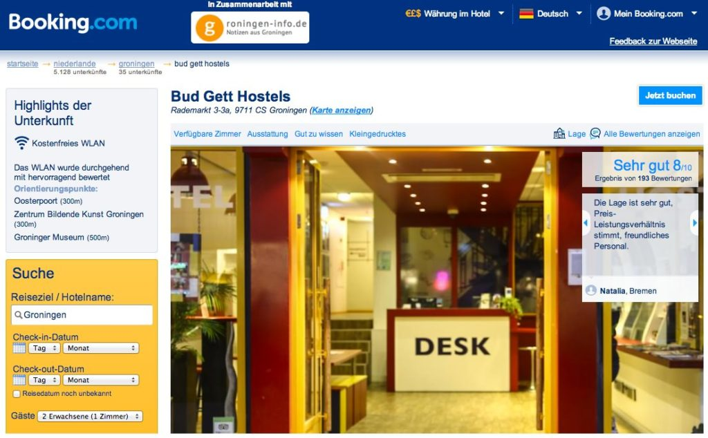 Groningen - Booking.com - Bud Gett Hostels