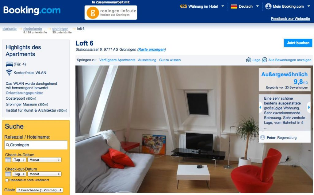 Booking.com - Ferienwohnung Loft 6