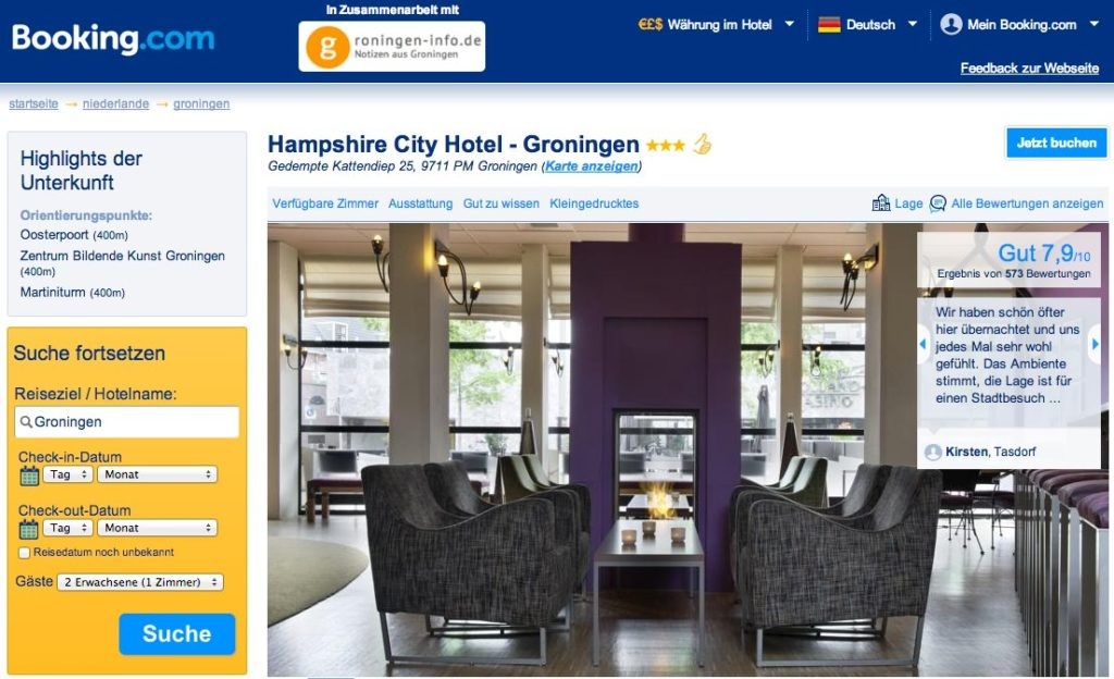 Groningen - Booking.com - Hotel Hampshire City Hotel