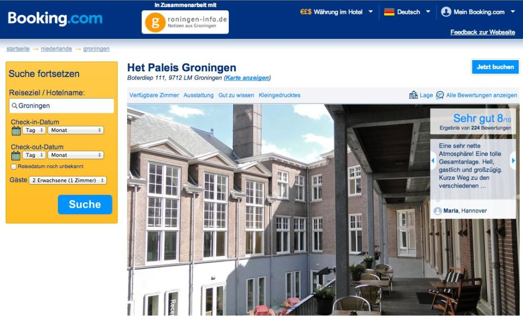 Groningen - Bookings.com - Hotel Het Paleis