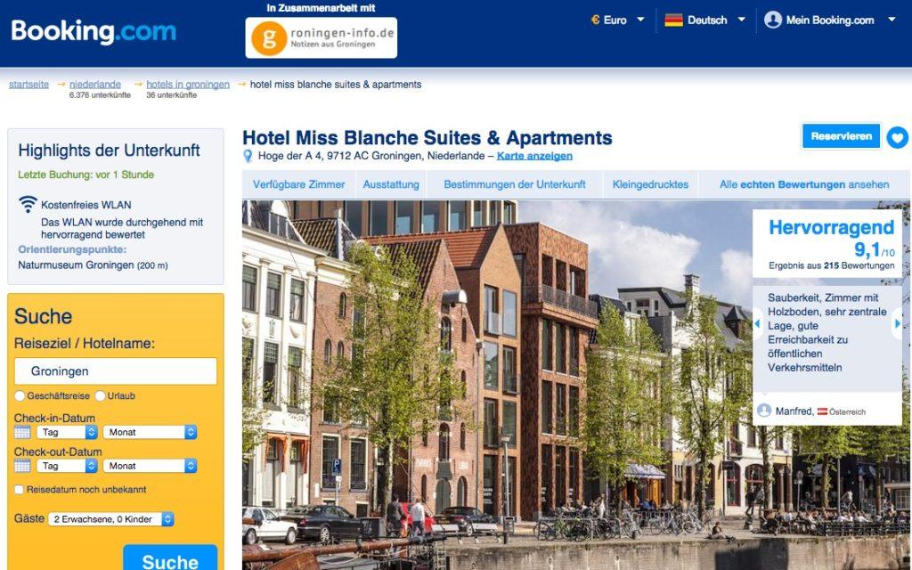 Groningen - Bookings.com - Hotel Miss Blanche