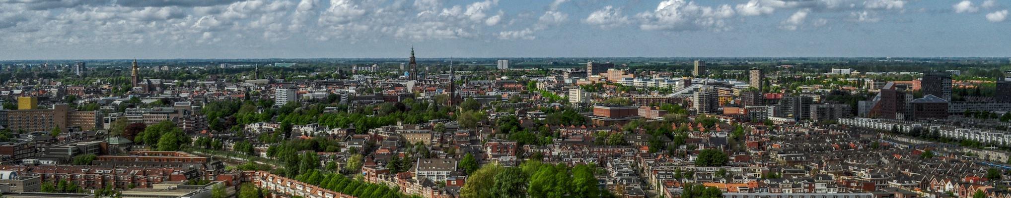 Groningen - Stadt aus der Luft