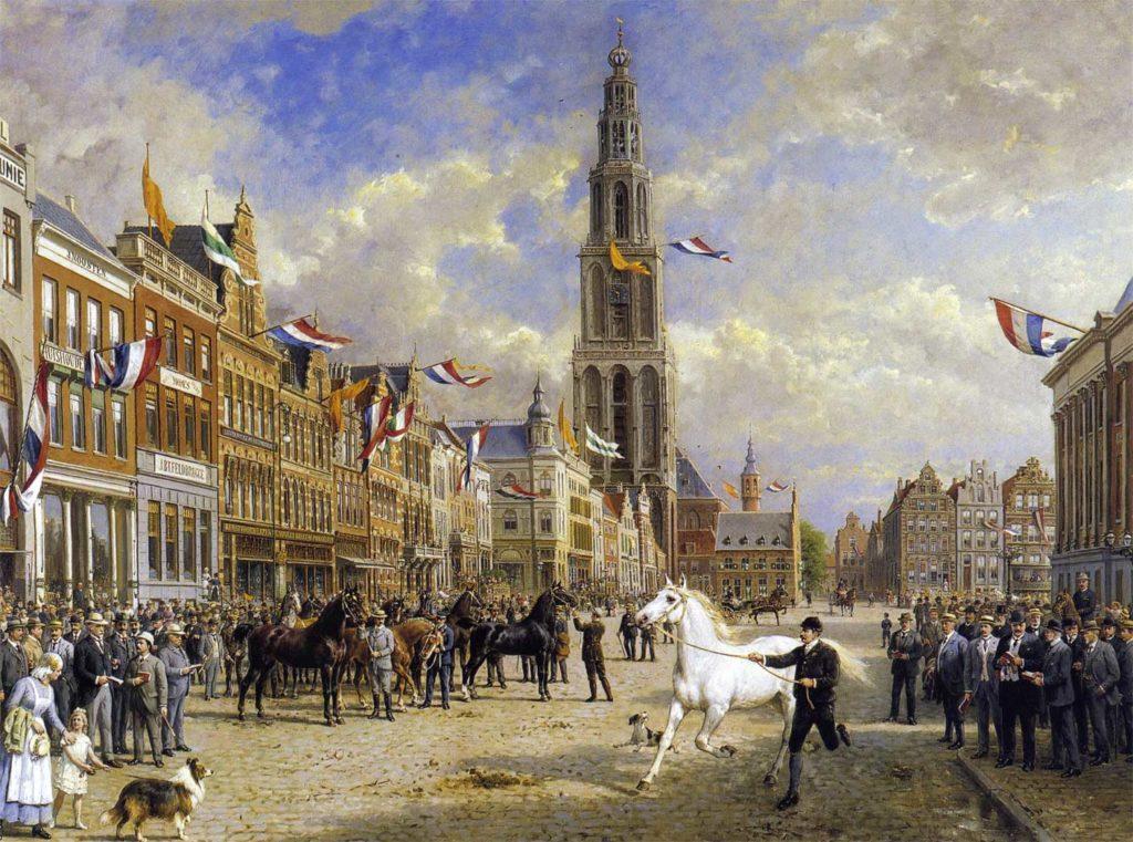Gemälde von Otto Eerelman - Die Pferdemusterung (von 1920)