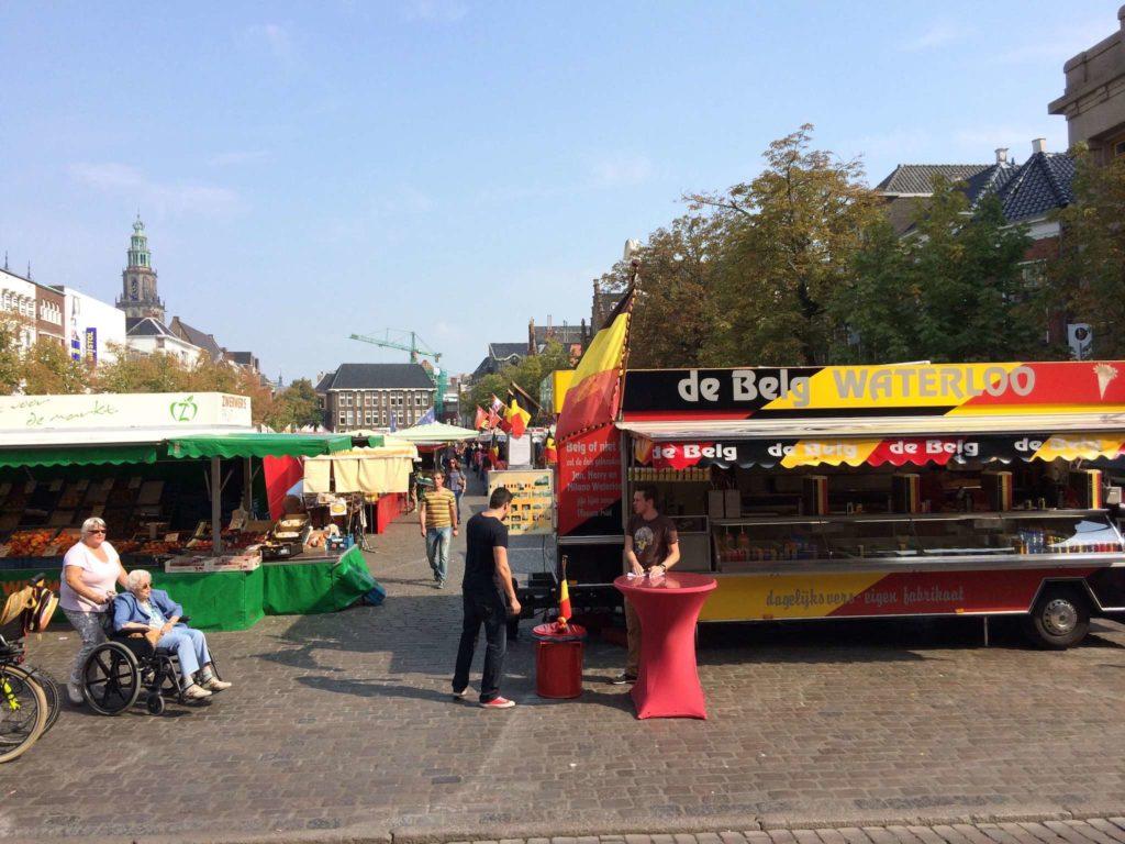 Groningen - Vismarkt mit De Belg Waterloo