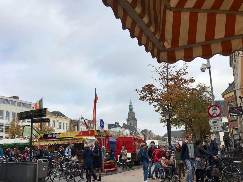 Groningen - Vismarkt mit Martiniturm