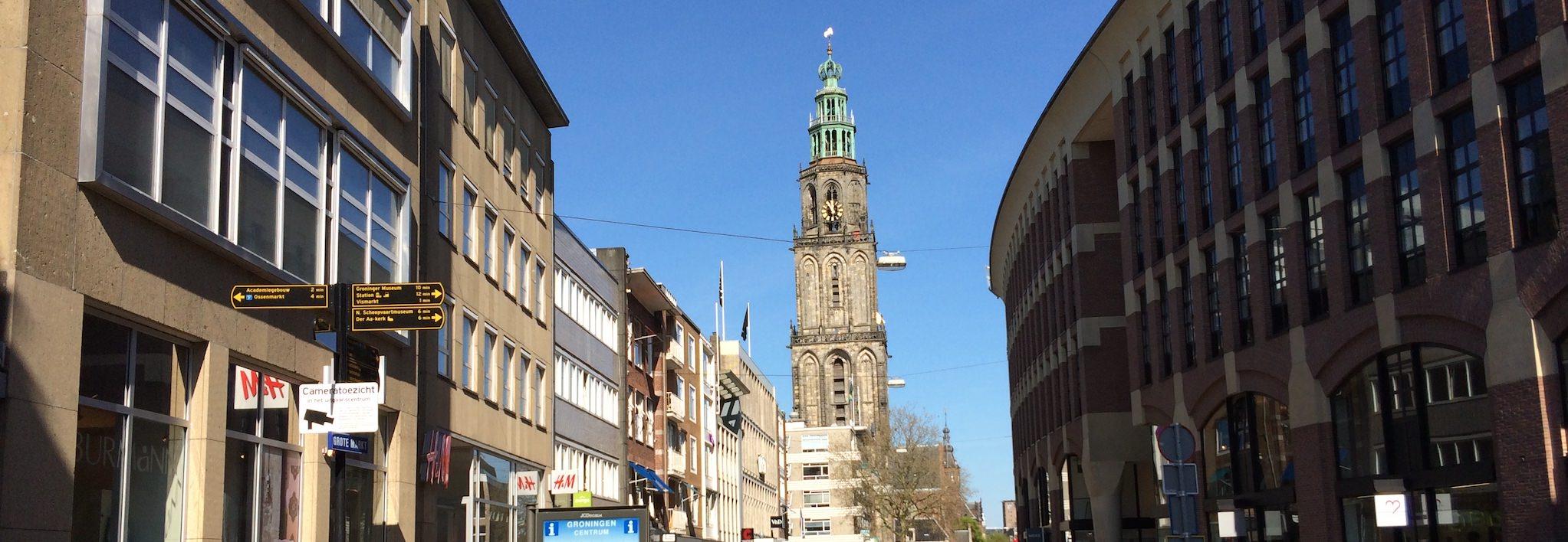 Groningen - Martiniturm, von der Zwanestraat aus
