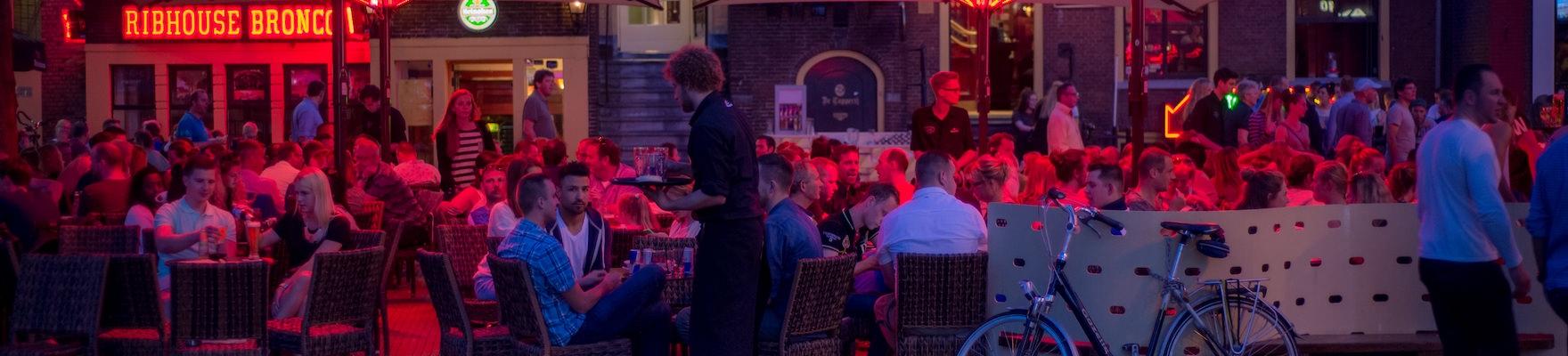 Groningen - Grote Markt - draußen sitzen
