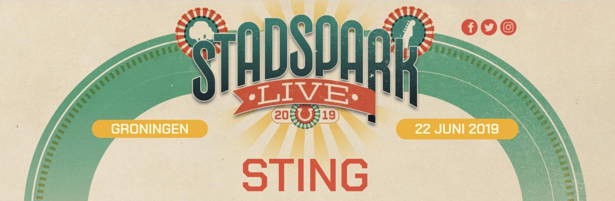 Groningen Stadspark live - mit Sting und Anouk