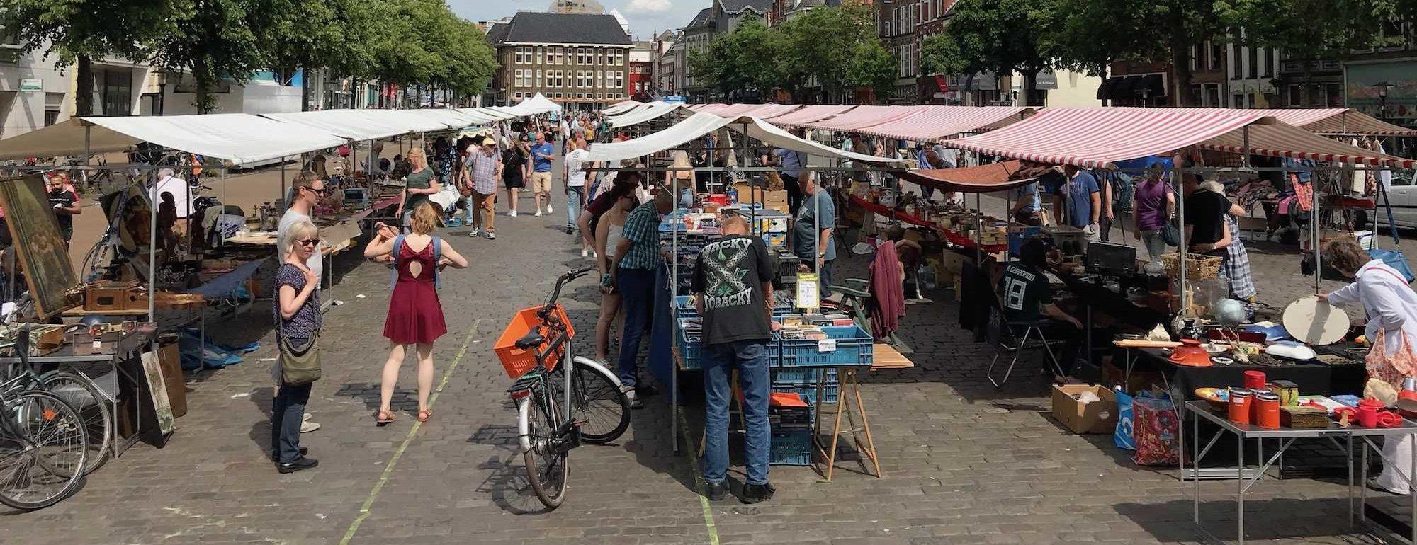 Groningen - Vismarkt - Flohmarkt am Sonntag