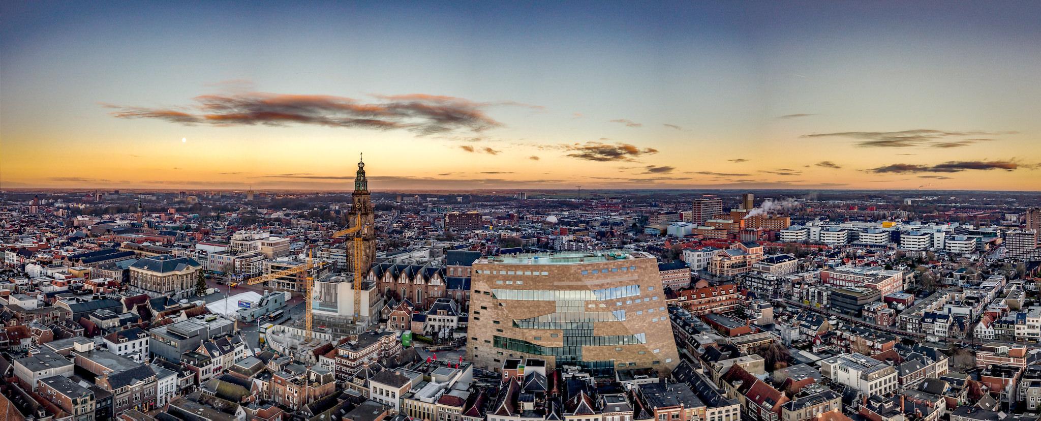 Skyline mit Forum Groningen