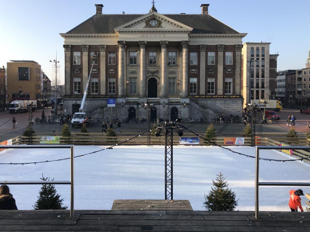 Groningen - die Eisbahn am Grote Markt